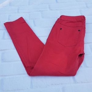 LC Lauren Conrad Coral Red Skinny Jeans